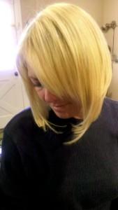 blond short hair extensions Nyack