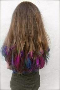 multicolor hair highlighting