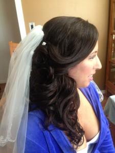 black hair wedding curls nad extensions